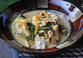 Thai Green Curry Chicken with Rice recipe