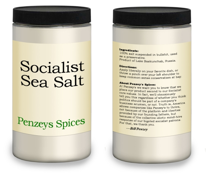 Bill Penzey's Socialist Sea Salt